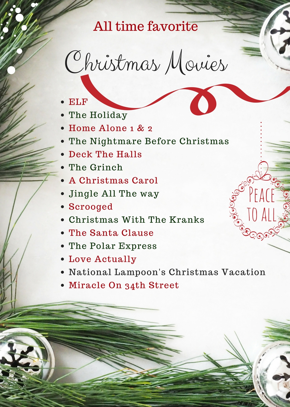 The list of my all time favorite Christmas movies