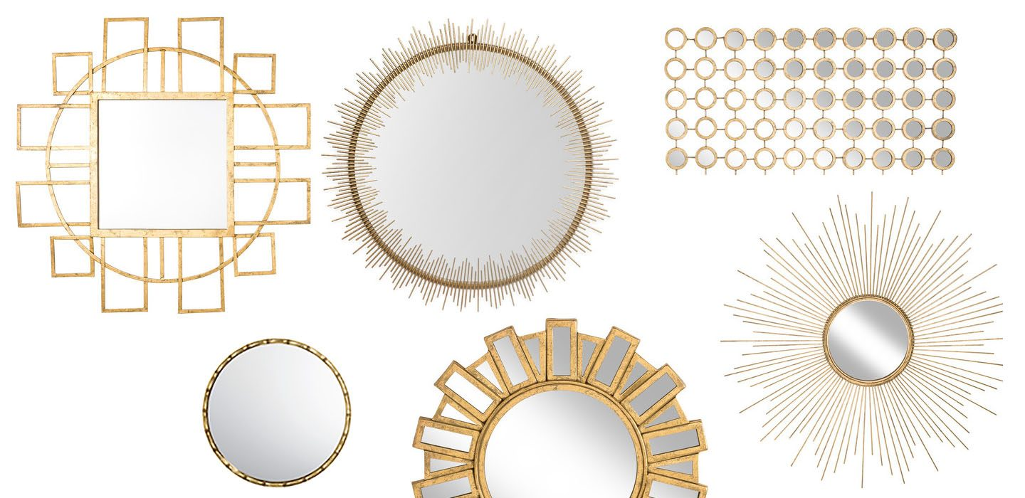 6 stunning gold accent mirrors