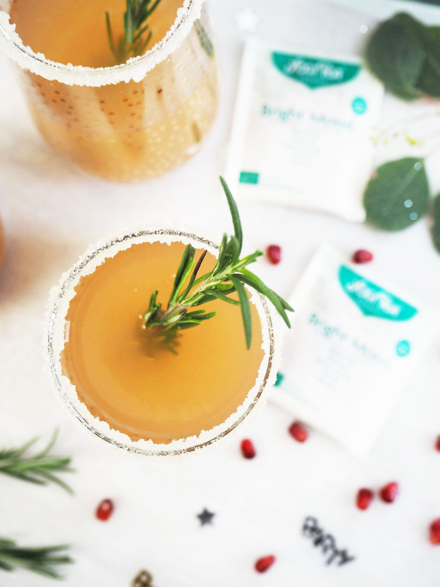 Bright Mood Punch (vegan New Years eve punch) x Yogi Tea