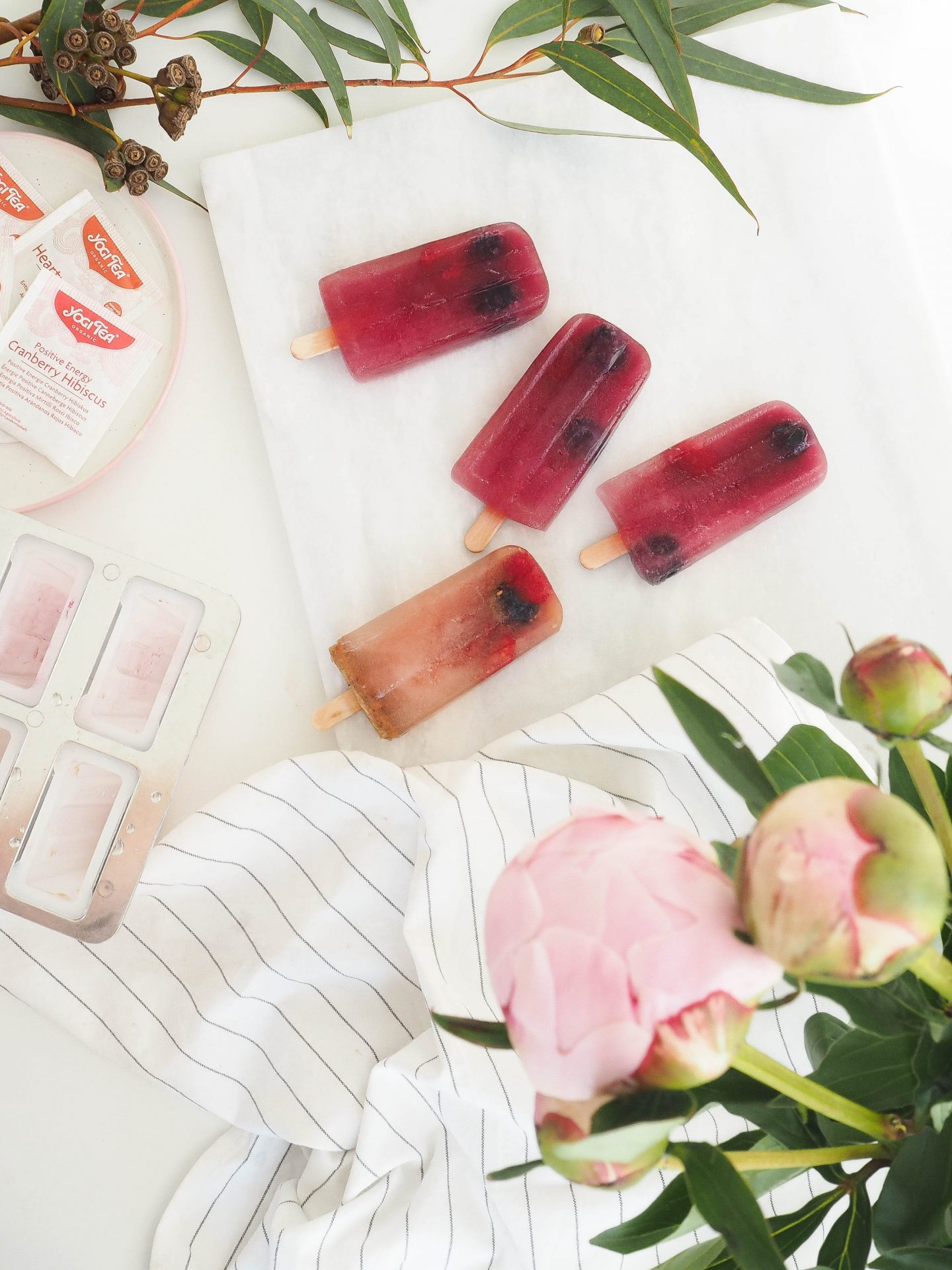 fresh and healthy ice pops