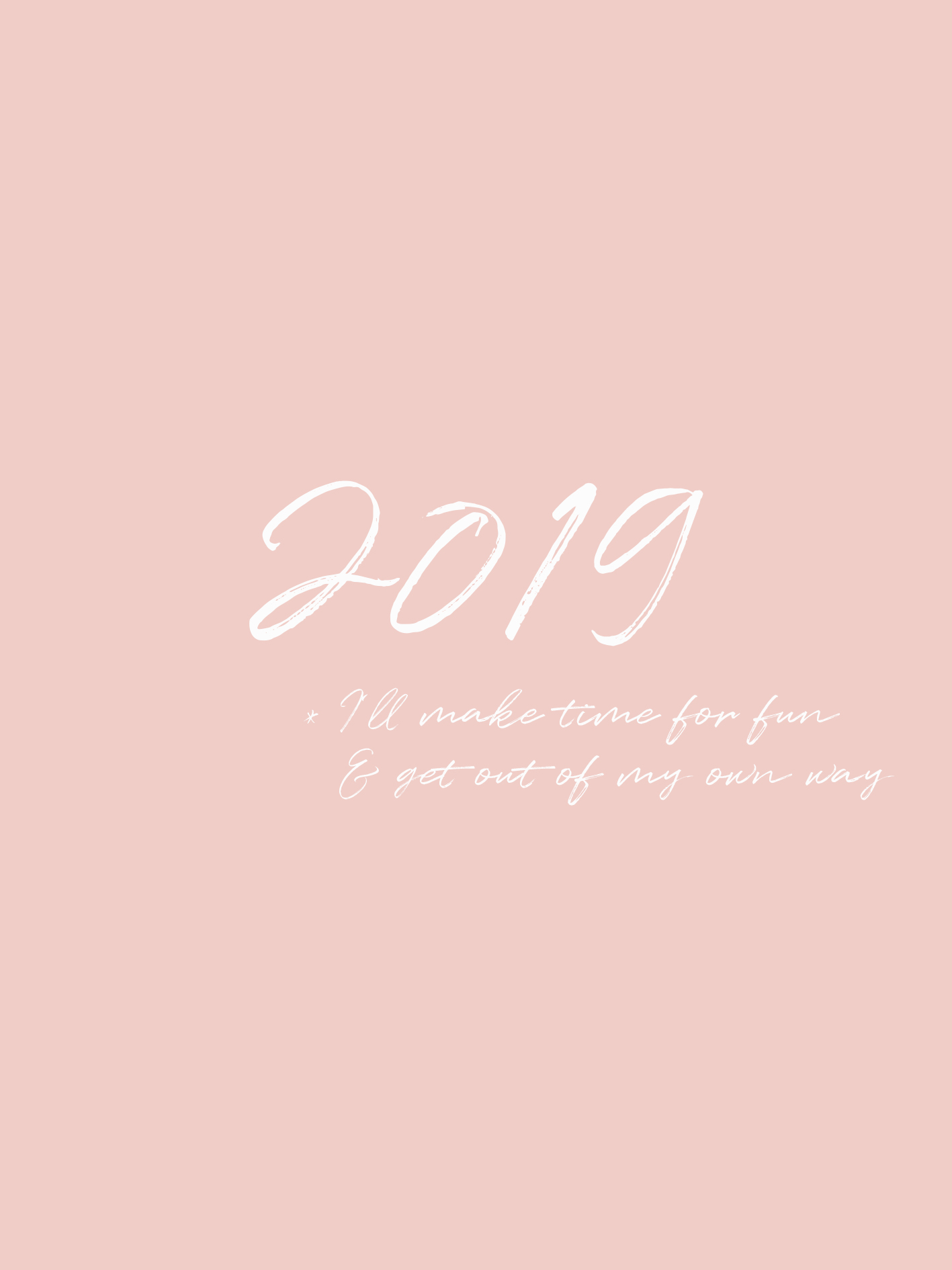 New Year - 2019 Goals